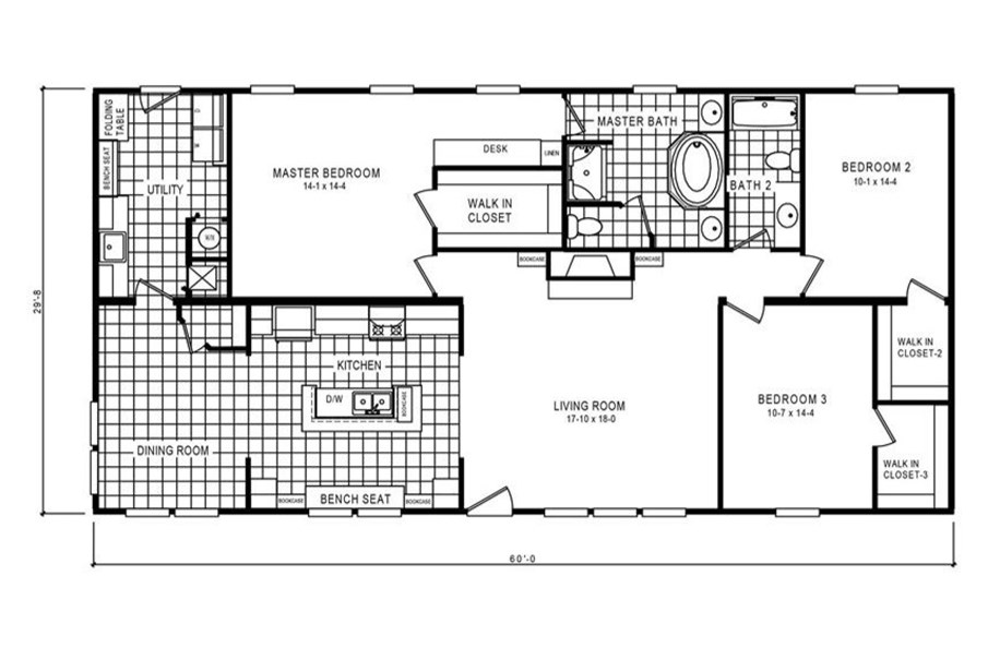 The 2914 HERITAGE Floor Plan