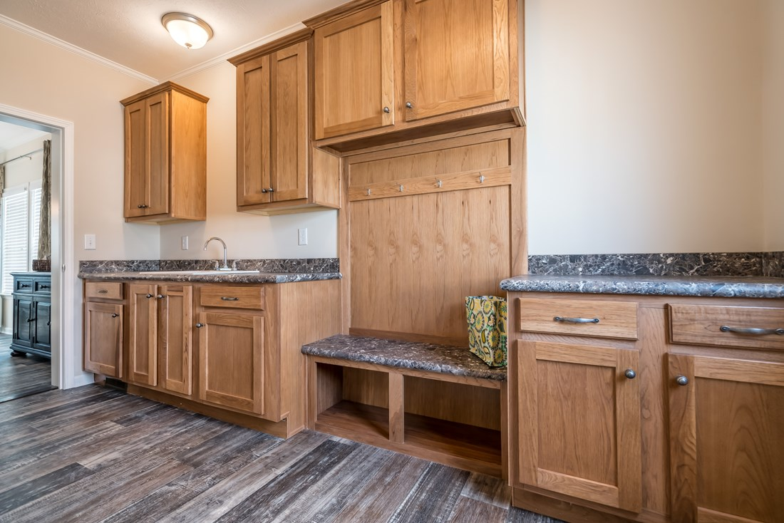 The 2914 HERITAGE Utility Room. This Manufactured Mobile Home features 3 bedrooms and 2 baths.