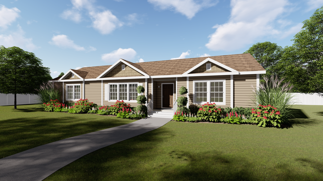 The 2088 HERITAGE Exterior. This Manufactured Mobile Home features 3 bedrooms and 2 baths.