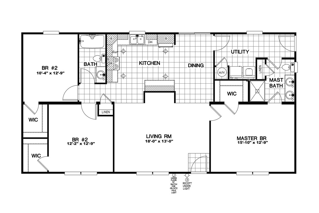The 2089 52X28 3+2 HERITAGE Floor Plan