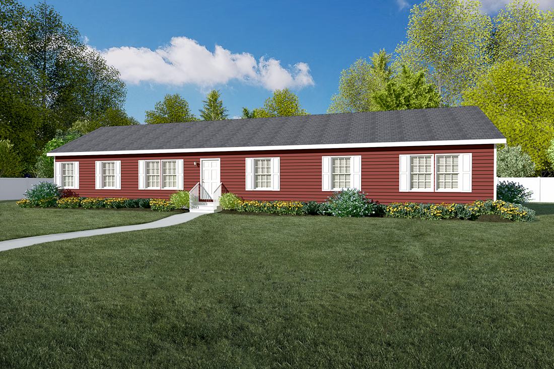 The 2917 HERITAGE Exterior. This Manufactured Mobile Home features 4 bedrooms and 2 baths.